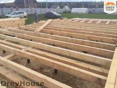 Строительство дома из бруса по проекту Авиньон   фаза 1