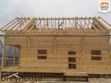 Строительство дома из бруса по проекту Авиньон   фаза 10