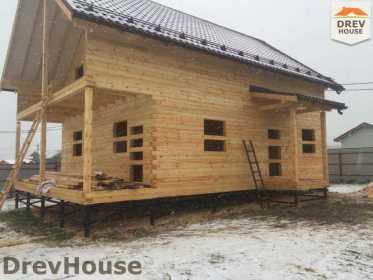 Строительство дома из бруса по проекту Авиньон   фаза 11