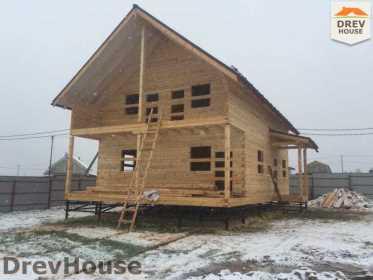 Строительство дома из бруса по проекту Авиньон   фаза 12