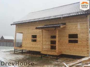 Строительство дома из бруса по проекту Авиньон   фаза 13