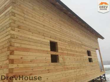 Строительство дома из бруса по проекту Авиньон   фаза 14