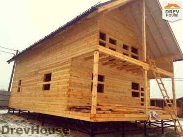 Строительство дома из бруса по проекту Авиньон   фаза 16