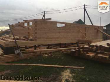 Строительство дома из бруса по проекту Авиньон   фаза 2