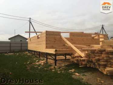 Строительство дома из бруса по проекту Авиньон   фаза 3