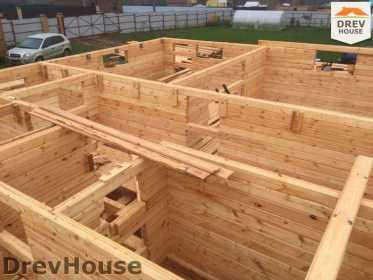 Строительство дома из бруса по проекту Авиньон   фаза 4