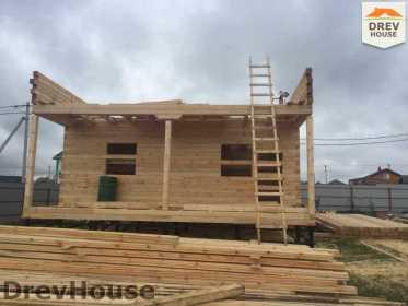 Строительство дома из бруса по проекту Авиньон   фаза 5
