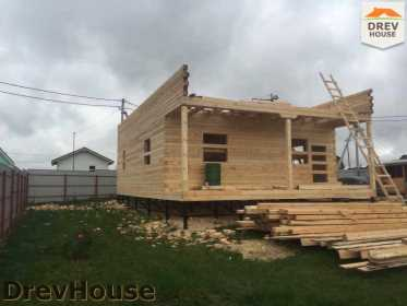Строительство дома из бруса по проекту Авиньон   фаза 6
