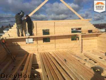 Строительство дома из бруса по проекту Авиньон   фаза 7