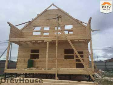 Строительство дома из бруса по проекту Авиньон   фаза 8