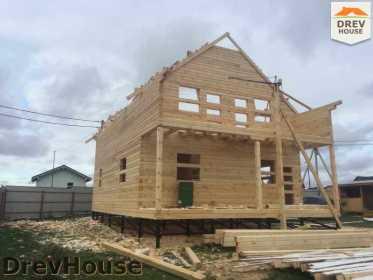 Строительство дома из бруса по проекту Авиньон   фаза 9