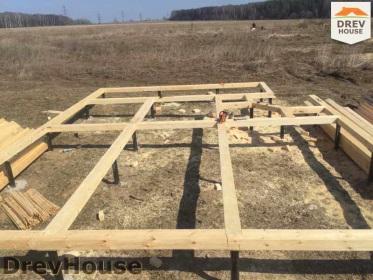 Строительство дома из бруса по проекту Евелина   фаза 1