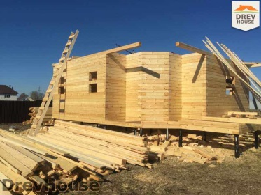 Строительство дома из бруса по проекту Евелина   фаза 10