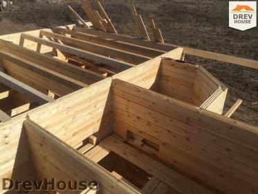 Строительство дома из бруса по проекту Евелина   фаза 11