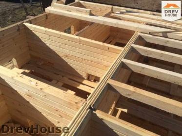 Строительство дома из бруса по проекту Евелина   фаза 12