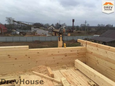 Строительство дома из бруса по проекту Евелина   фаза 13