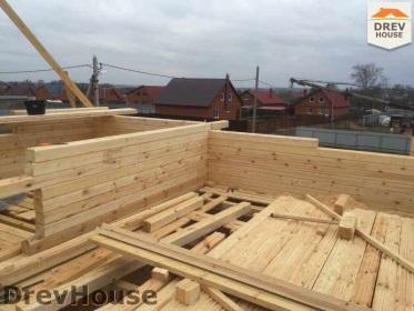 Строительство дома из бруса по проекту Евелина   фаза 14