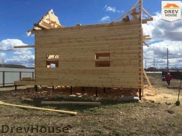 Строительство дома из бруса по проекту Евелина   фаза 15