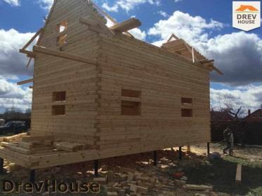 Строительство дома из бруса по проекту Евелина   фаза 16