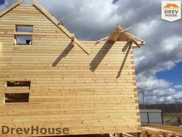 Строительство дома из бруса по проекту Евелина   фаза 17