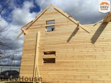 Строительство дома из бруса по проекту Евелина   фаза 18