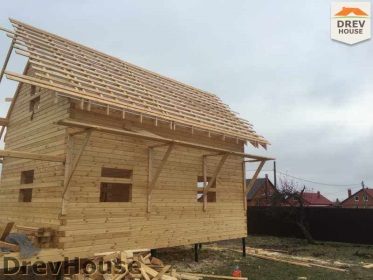 Строительство дома из бруса по проекту Евелина   фаза 19