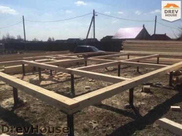 Строительство дома из бруса по проекту Евелина   фаза 2