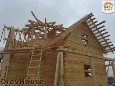 Строительство дома из бруса по проекту Евелина   фаза 20