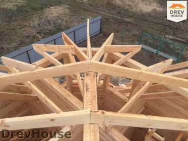 Строительство дома из бруса по проекту Евелина   фаза 21