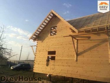 Строительство дома из бруса по проекту Евелина   фаза 22