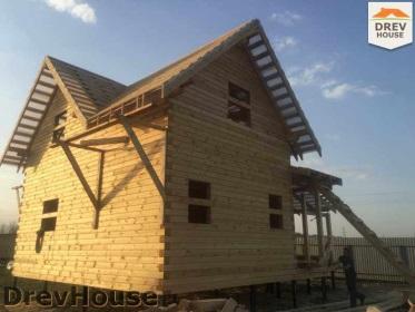 Строительство дома из бруса по проекту Евелина   фаза 23