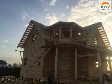 Строительство дома из бруса по проекту Евелина   фаза 24