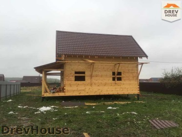 Строительство дома из бруса по проекту Евелина   фаза 25