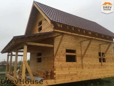 Строительство дома из бруса по проекту Евелина   фаза 26