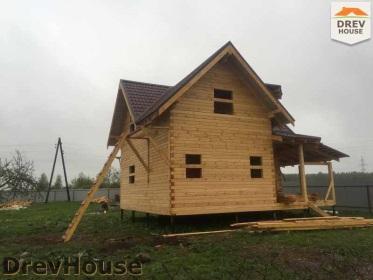 Строительство дома из бруса по проекту Евелина   фаза 27