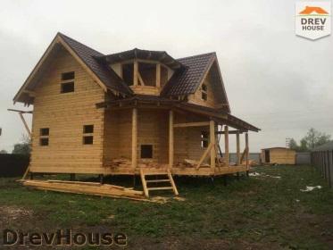 Строительство дома из бруса по проекту Евелина   фаза 28