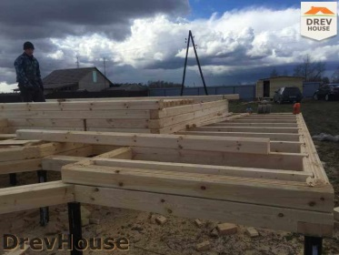 Строительство дома из бруса по проекту Евелина   фаза 3