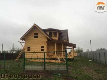Строительство дома из бруса по проекту Евелина   фаза 30