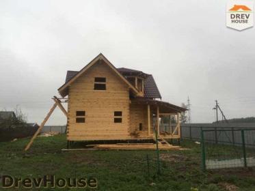 Строительство дома из бруса по проекту Евелина   фаза 31