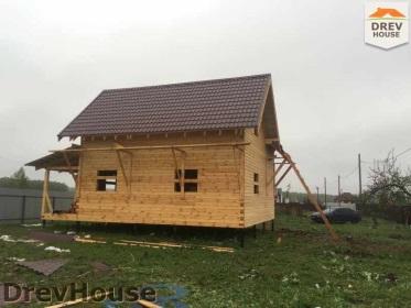 Строительство дома из бруса по проекту Евелина   фаза 32