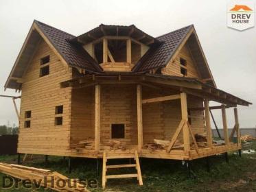 Строительство дома из бруса по проекту Евелина   фаза 33