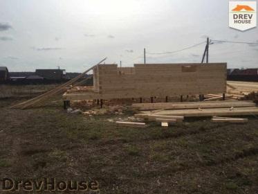Строительство дома из бруса по проекту Евелина   фаза 4