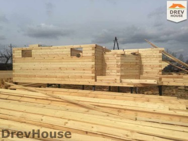 Строительство дома из бруса по проекту Евелина   фаза 5
