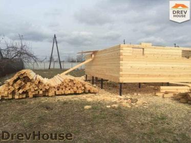 Строительство дома из бруса по проекту Евелина   фаза 6