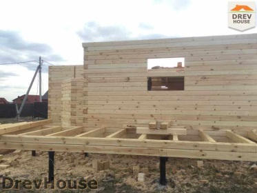 Строительство дома из бруса по проекту Евелина   фаза 7