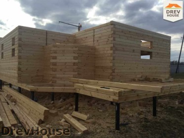 Строительство дома из бруса по проекту Евелина   фаза 8