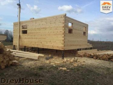 Строительство дома из бруса по проекту Евелина   фаза 9