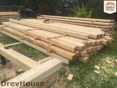 Строительство дома из бруса по проекту Толедо   фаза 1