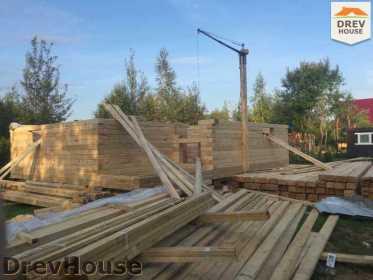 Строительство дома из бруса по проекту Толедо   фаза 10