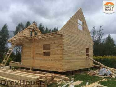 Строительство дома из бруса по проекту Толедо   фаза 12